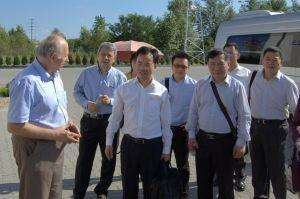 Visited by the official delegation from the Kujawsko-Pomeranian partner district in China